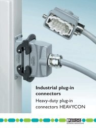 Industrial plug-in connectors Heavy-duty plug-in ... - Phoenix Contact