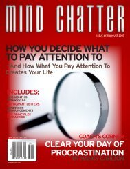 Mind Chatter #175 (August, 2007) (PDF) - Centerpointe Research ...