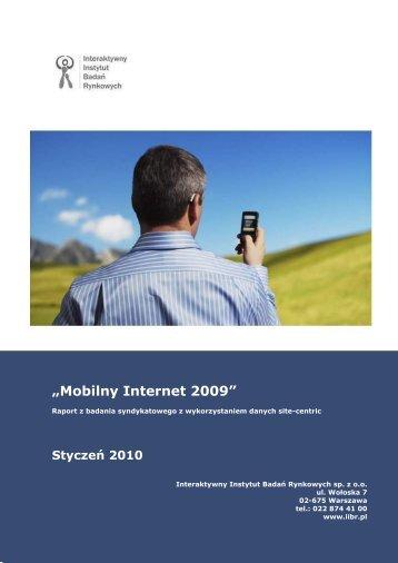 Mobilny Internet 2009 - Gemius