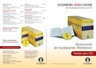 Gesamt-Übersicht der lieferbaren «Audio&Score» Titel - Musicademy