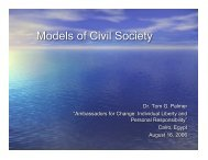 Models of Civil Society for Middle East Conference - Tom G. Palmer