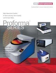 Proforma Series Brochure - MTI Instruments Inc.