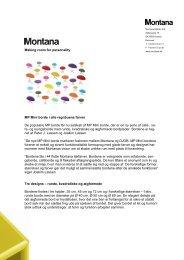 Pressemeddelelse - Montana Møbler