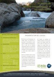 Ecole thematique CNRS SE 2013-1.pdf - Agropolis International
