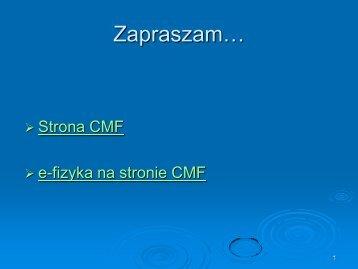 Wyklad 7.pdf - CMF