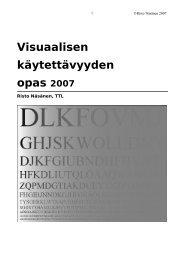 Visuaalisen käytettävyyden opas - Työterveyslaitos