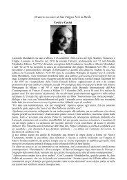 Leonardo Mondadori - Confederazione dell'Oratorio di San Filippo ...