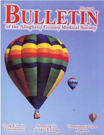 July 2009 Bulletin - Allegheny County Medical Society
