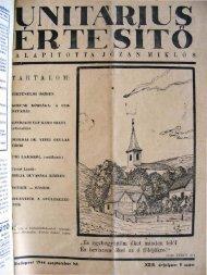 1944. szeptember - Unitárius tudás-tár