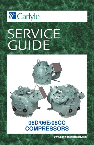 Carrier Compressors Service Guide
