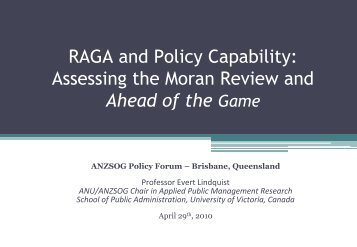 RAGA and Policy Capability: Assessing the Moran Review and Ahead ...
