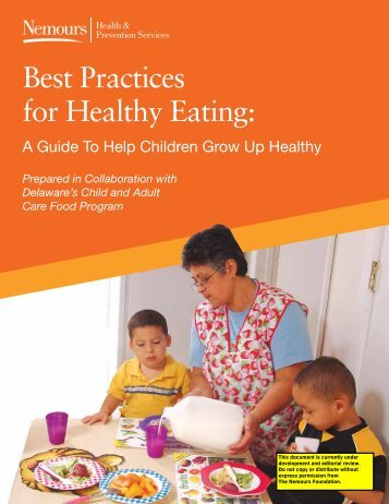 Best Practices for Healthy Eating: - Nemours