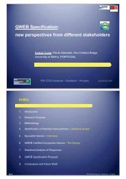 QWEB Specification: New Perspectives from Different ... - EOQ