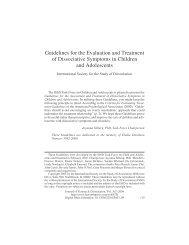 Dissociative Symptoms in Children and Adolescents - International ...