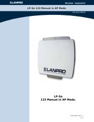 LP-5a 123 Manual in AP Mode. - LanPro