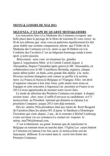 MOTO & LOISIRS DE MAI 2011 SIGUENZA- 2 ETAPE ... - MotoBalade