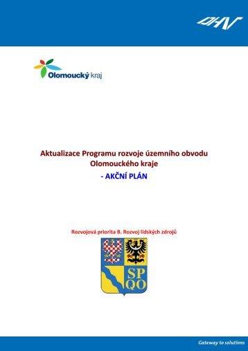 Akční plán B Rozvoj lidských zdrojů - Olomoucký kraj