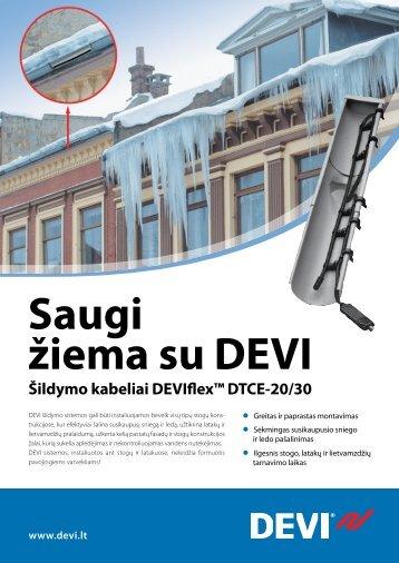 Šildymo kabeliai DEVIflex™ DTCE-20/30
