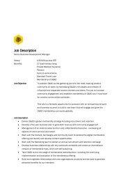 Membership Manager – job spec - D&AD