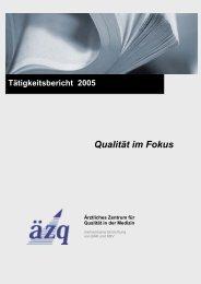 03 - Das Ärztliche Zentrum für Qualität in der Medizin