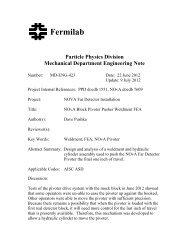 PDF - NOVA Document Database - Fermilab