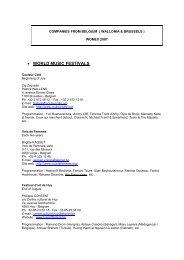 Ph/fax: +32 2 732 14 45 - Wallonie-Bruxelles Musiques