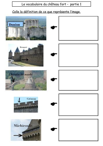 Le vocabulaire du château fort - partie 1