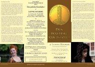PROGRAM sommer 2009 - Teaterselskabet Pulchra Semper Veritas