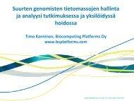 Suurten genomisten tietomassojen hallinta ja analyysi ...
