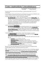 2005-05-01 Gottes eindrückliche Lebenslektionen Christian Stricker