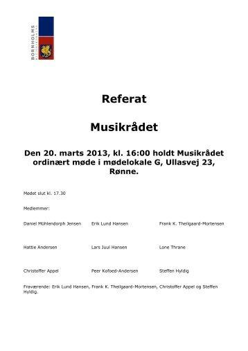 Referat Musikrådet - Bornholms Regionskommune