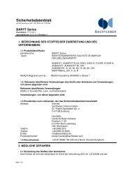 Sicherheitsdatenblatt - Sachtleben Chemie GmbH