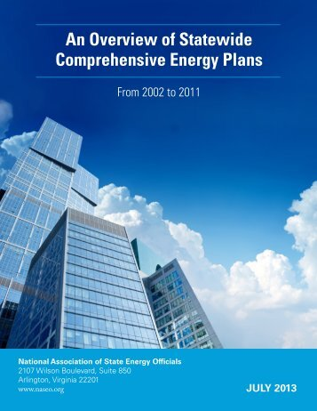 An Overview of Statewide Comprehensive Energy Plans - National ...