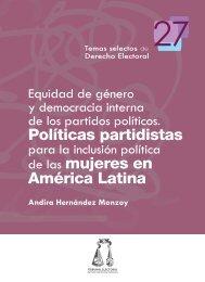 Equidad de género y democracia interna de los partidos políticos ...
