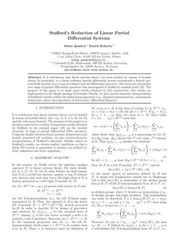 Stafford's Reduction of Linear Partial Differential Systems
