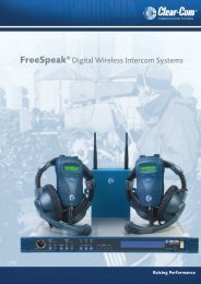 Clear-Com FreeSpeak Wireless Brochure (Not for USA ... - AVC Group