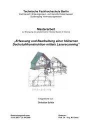 Laserscanning eines hölzernen Dachstuhls - Beuth Hochschule für ...