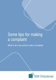 Some tips for making a complaint - NSW Ombudsman