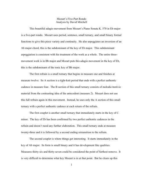 mozart k570 analysis