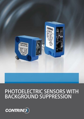PHOTOELECTRIC SENSORS WITH BACKGROUND SUPPRESSION