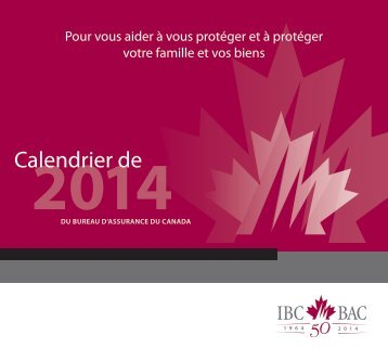 2013 - Insurance Bureau of Canada