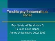 Trouble psychosomatique - Psychiatrie Adulte et Psychologie ...