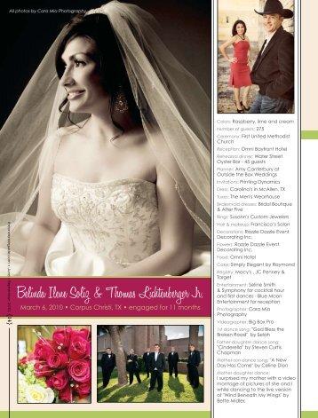 Belinda Ilene Soliz & Thomas Lichtenberger Jr. - The One Bride Guide