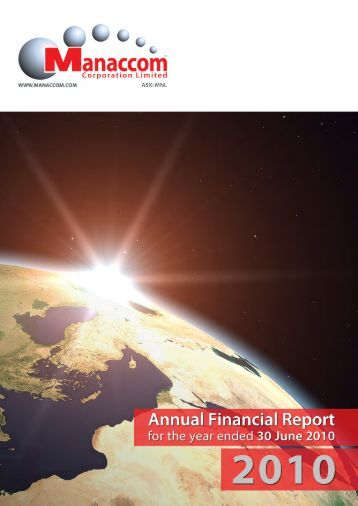 View Manaccom Corporation Limited Annual Financial Report for ...