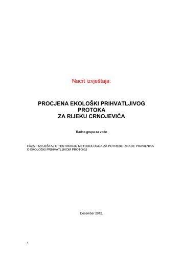 Procjena ekoloski prihvatljivog protoka za ... - NVO Green Home