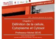 Définition de la cellule, Cytoplasme et Cytosol - Université Virtuelle ...