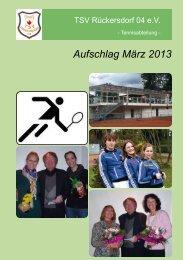 Jahreshauptversammlung - Mannschaften ... - TC Rückersdorf