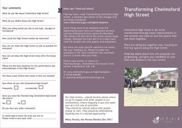 Summary leaflet - Chelmsford Borough Council