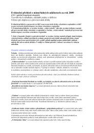 Vysvětlivky k tabulkám, základní pojmy a definice