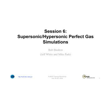 Session 6: Supersonic/Hypersonic Perfect Gas Simulations - NASA